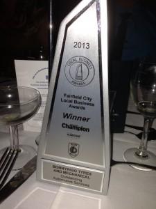 2013 Business Award Winner Bonnyrigg Tyres & Mechanical